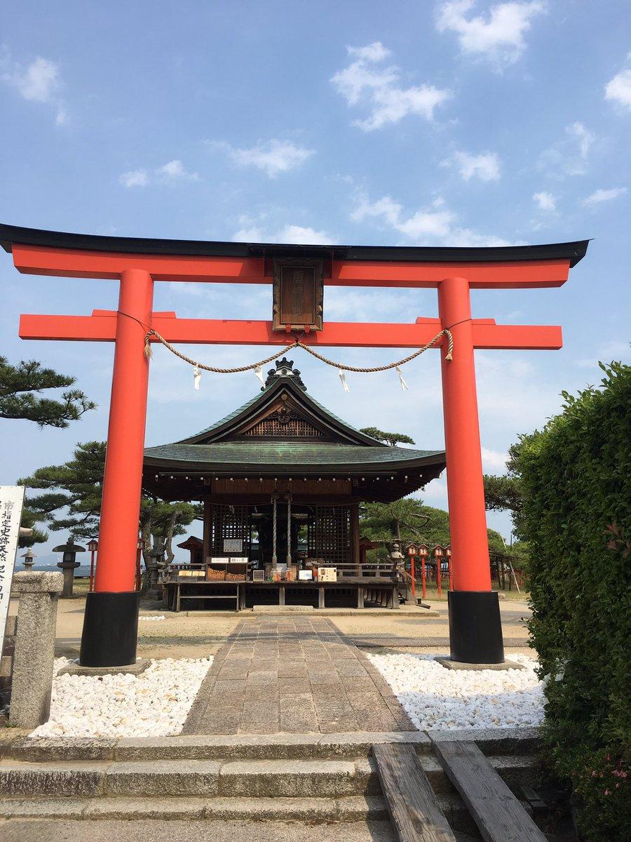 唐崎神社!天兄や白子、きっと牡丹や比良裏もここにいたんだね…胸熱(;_;)#滋賀 #琵琶湖 #唐崎神社 #曇天に笑う #