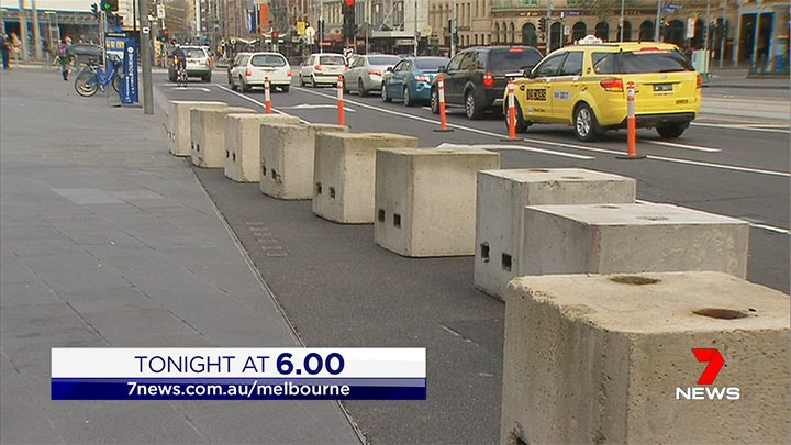 TONIGHT AT 6 | Concrete blocks laid in the CBD to protect against terror  attacks.