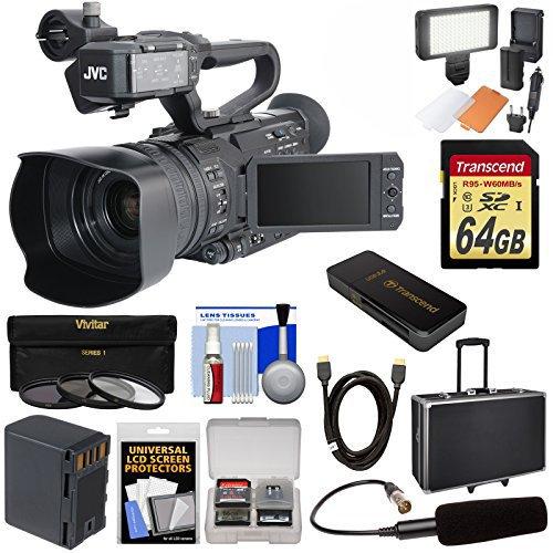 JVC GY-HM170U Ultra 4K HD 4KCAM Professional Camcorder & Top Handle Audio...