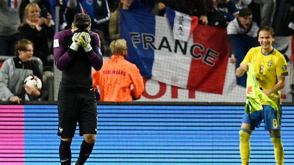 Football: Sweden beat France 2-1 on blunder by goalkeeper Lloris