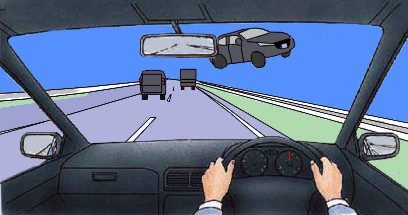 test ツイッターメディア - 東名高速の衝突事故を受けて、危険予測問題を作るとしたらこうかな? 問.あなたは高速道路を走っています。 いきなり対向車が現れました。なにに注意したらよいでしょうか https://t.co/z9WzeIwOMS