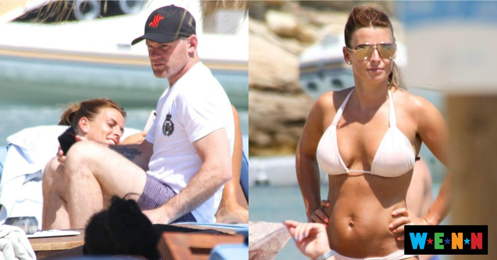 Coleen and Wayne Rooney hit the beach in Mykonos for ANOTHER holiday just days after returning from Barbados
