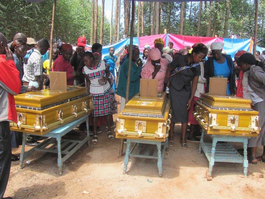 Murdered kids of MCA hopeful buried in Kisii