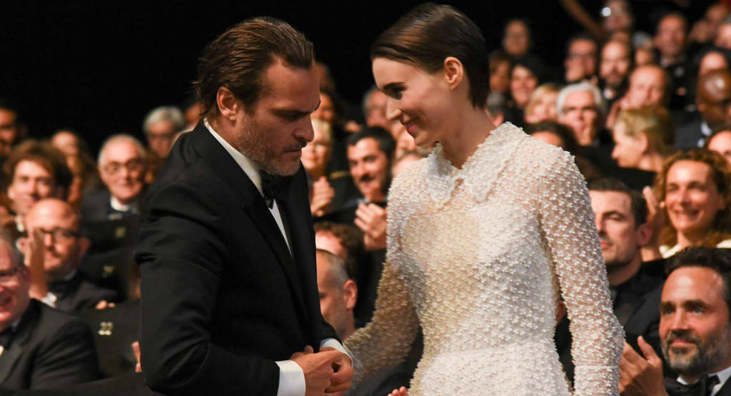 Rooney Mara and Joaquin Phoenix casually make their awards show debut at Cannes: