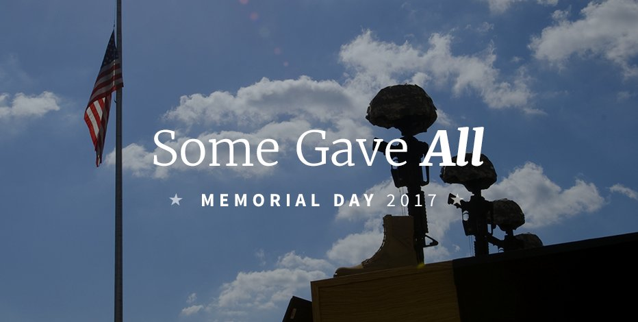 Today we remember the fallen and we honor these guardians of our inalienable rights. Thank you. #MemorialDay