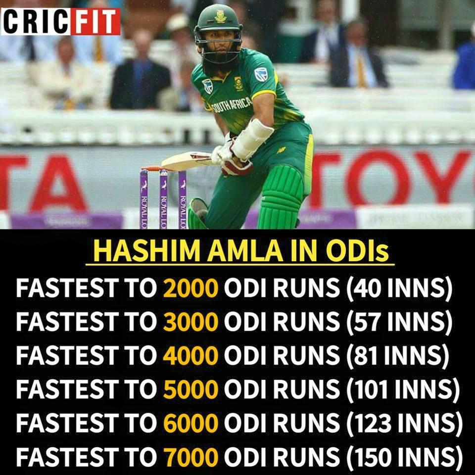 Hashim Amla's records in ODIs ! #Cricket https://t.co/E2m8FUl4lg