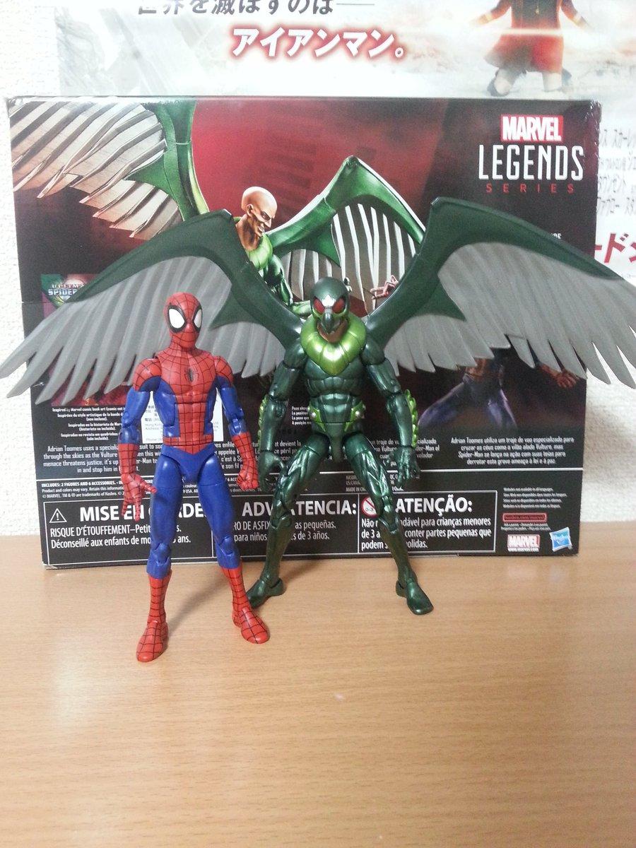限定マーベルレジェンド アルティメットスパイダーマン&アルティメットヴァルチャー。スパイダーマンは前回のリカラー