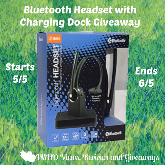 Bluetooth Headset with Charging Dock Giveaway