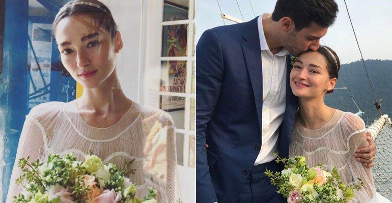 Bruna Tenorio. Foto do site da Caras Brasil que mostra Bruna Tenório se casa com Felipe Faria em Paraty