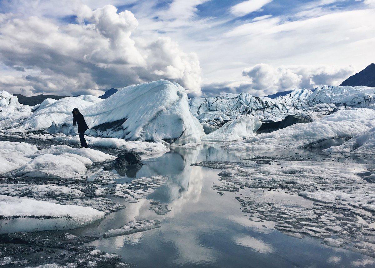 Exploring the Matanuska Glacier up in Alaska... https://t.co/n2h3MpmgXp https://t.co/lGo0ylczHX