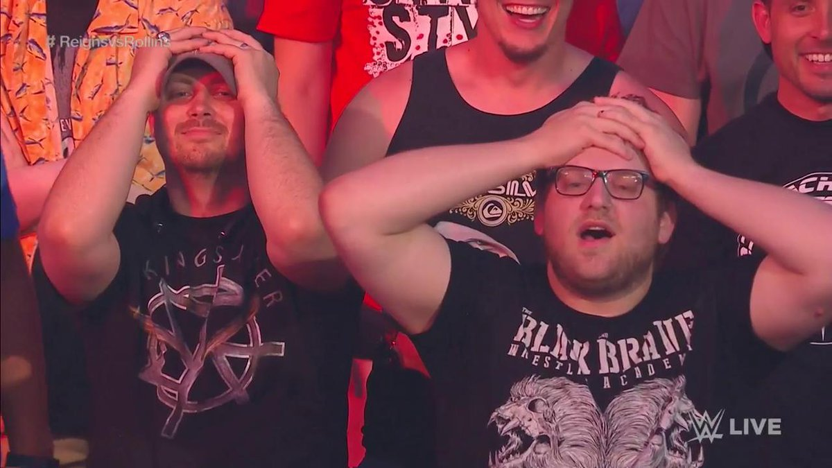 Yep, it was THAT kind of match... #RAW #ReignsvsRollins