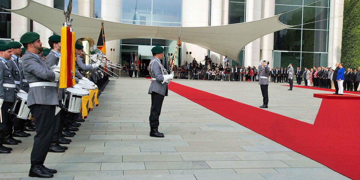 In Pics PM Narendra Modi accorded ceremonial welcome at German Chancellery (Images @PIB_India)