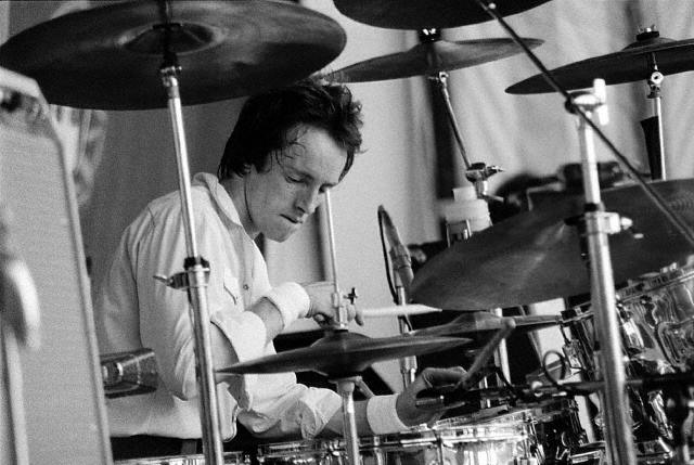 "Happy birthday today to the \Human drum machine"" \Topper Headon\"