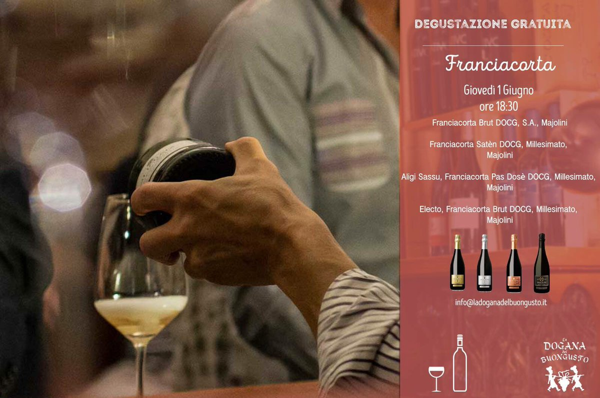 test Twitter Media - #savethedate degustazione gratuita #Franciacorta @CantinaMajolini  #winefriends #winetasting #cibobuonovinogiusto 👍#winelovers https://t.co/2lJiNikRbl