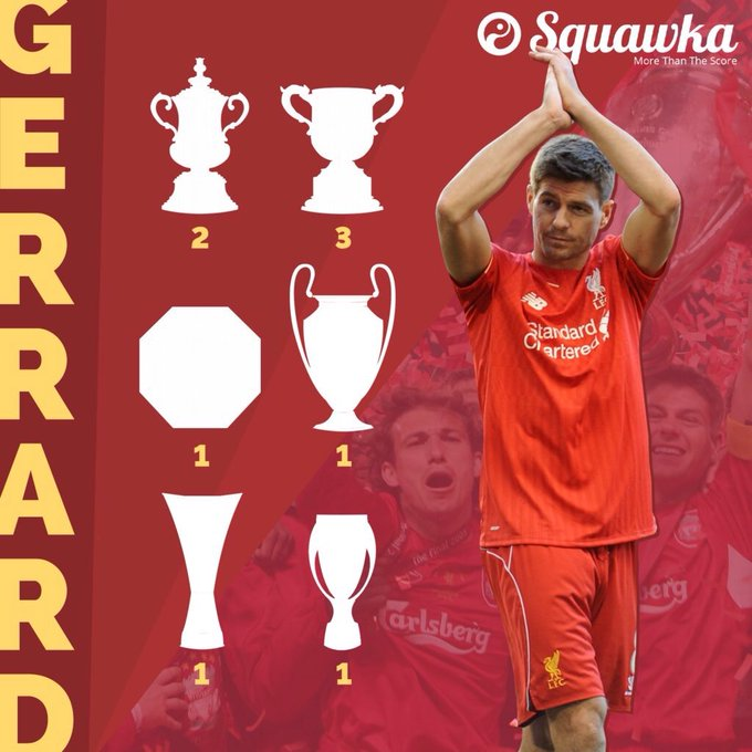 Happy 37th birthday, Steven Gerrard!  710 Liverpool games 186 goals  8 major trophies Liverpool legend.