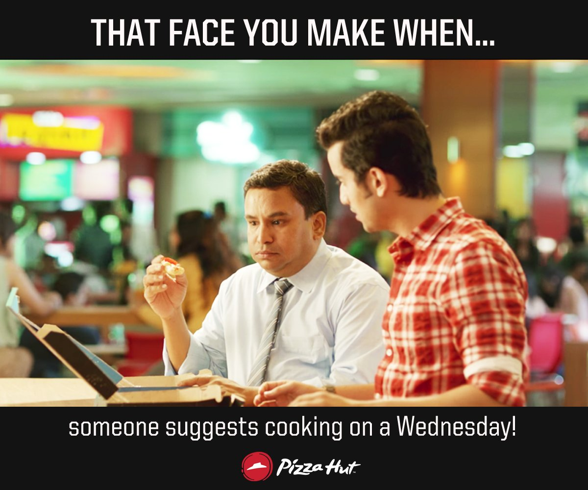 How dare they even think of something like that It s DontCookWednesday tomorrow ThinkPizzaThinkPizzaHut https t