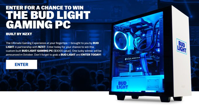 BUD LIGHT GAMING PC