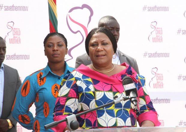 First Lady Cuts Sod For Construction Of New GHȻ 10M Maternity Unit For KATH