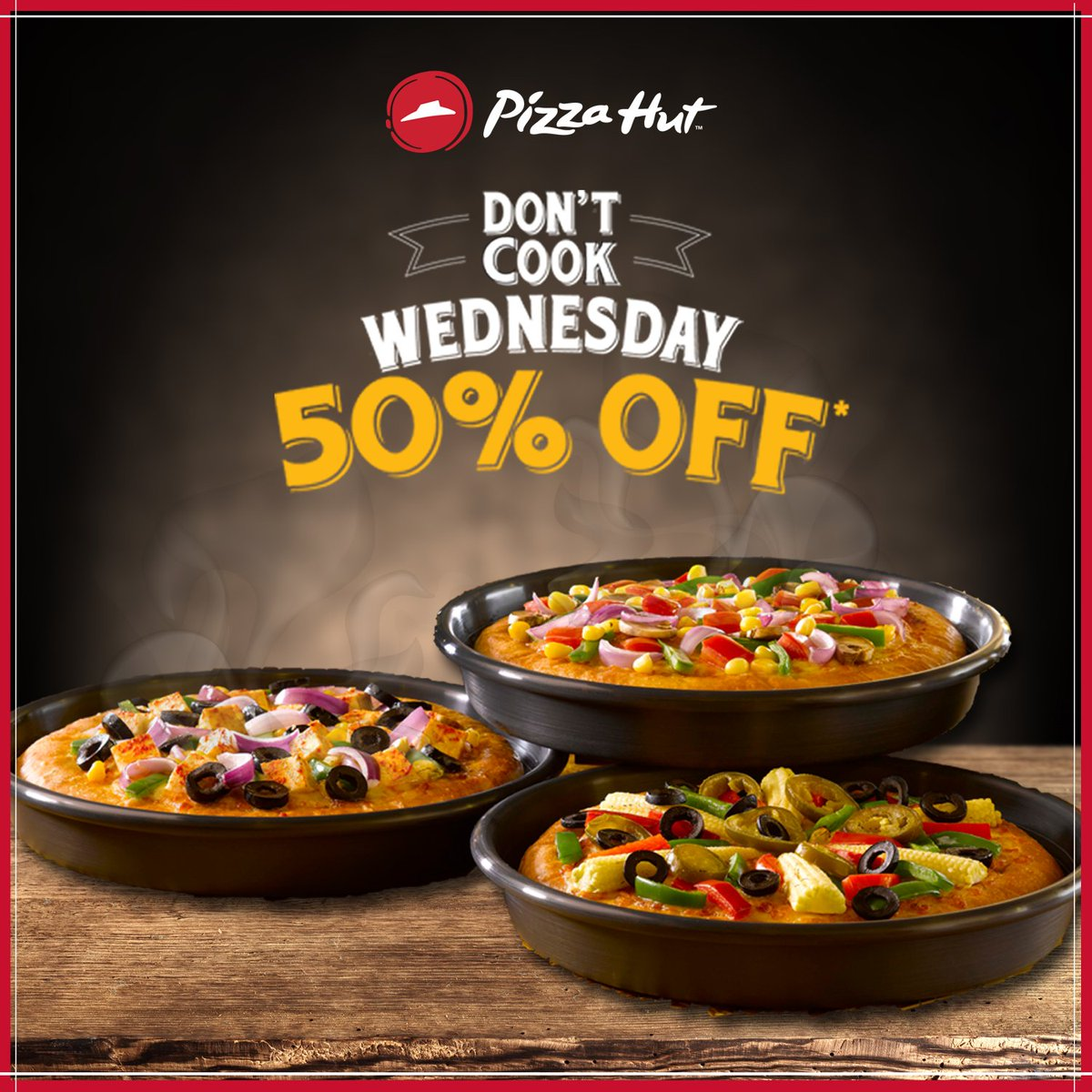 It s Wednesday So, give your cooking a break and resort to ordering the tastiest pan pizzas. DontCookWednesday https t