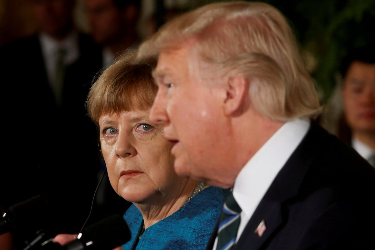 "Donald Trump tweets about ""very bad"" German relationship after tense NATO and G7 meetings"