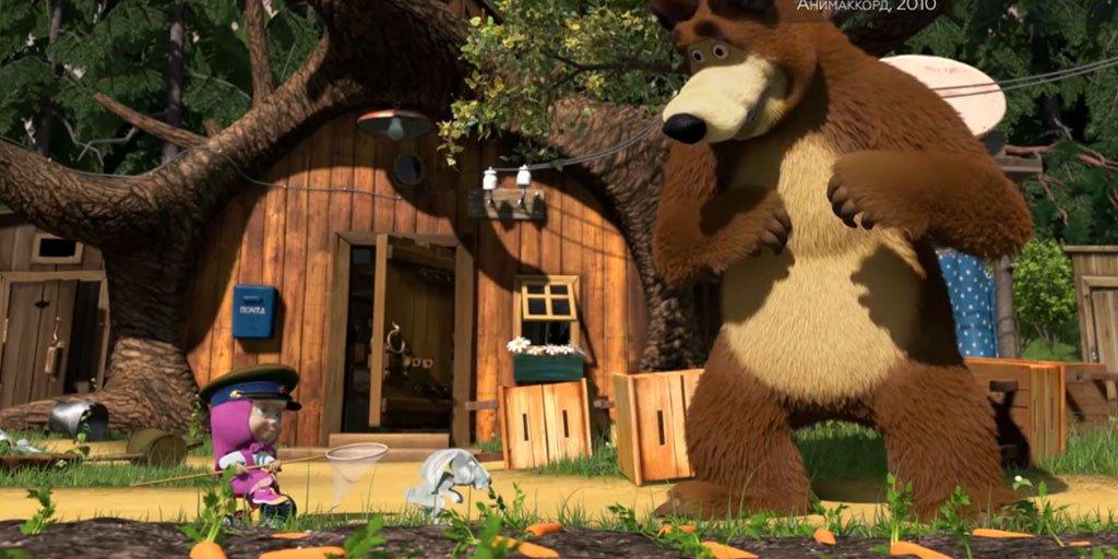 Домик медведя из мультфильма маша и медведь