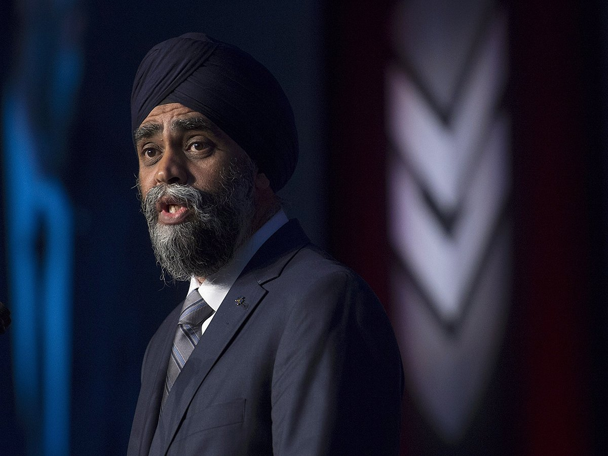 Sajjan blasts Boeing in defence industry speech over trade spat with Bombardier
