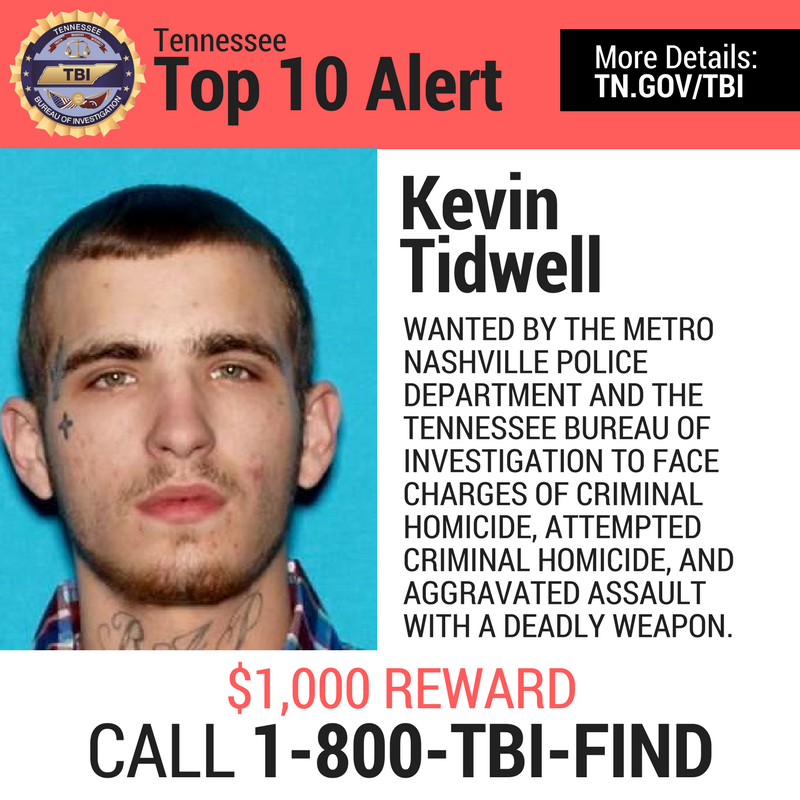 BREAKING Man Wanted For South Nashville Murder Added To TBInvestigation Top 10 Most