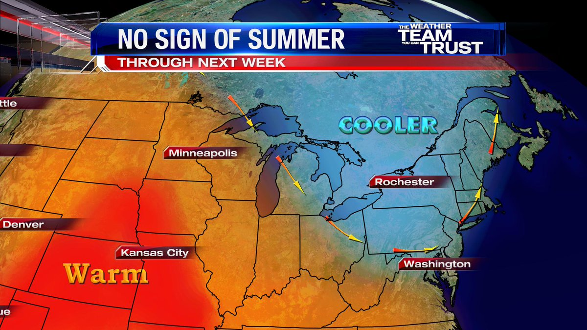 Average temperatures minneapolis - Cooler Than Average Temperatures Will Arrive With June No Sign Of Summer Warmth For The