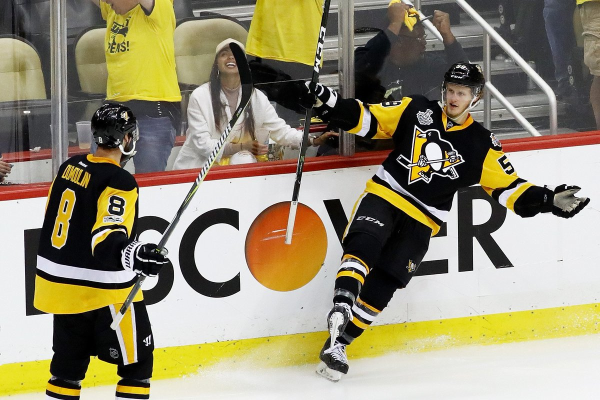 Jake Guentzel, Who Registered The Decisive Tally With 3:17 Remaining In Game 1, Scored His NHL-leading Fifth Game-winning Goal Of The Postseason
