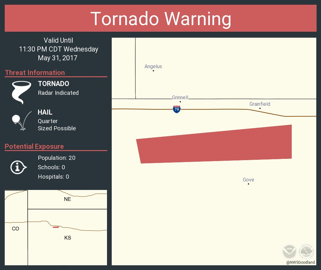 Kansas gove county grinnell - Tornado Warning Continues For Gove County Ks Until 11 30 Pm Cdt