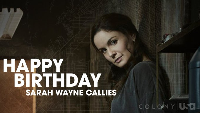 It s time to raise your Yonk glasses.  Happy Birthday to the one and only Sarah Wayne Callies.