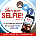 Share your selfie and WIN a day luxury boat hire! Join in our new competition using #boatselfie #prize #competition https://t.co/kqFLFo5osp