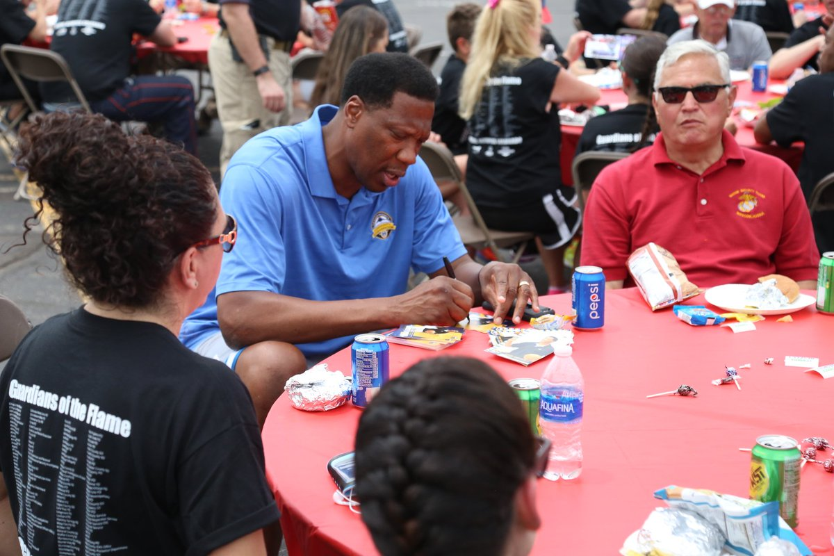 Former Nuggets Ervin Johnson And Walter Davis Signed A Few Autographs At The Special Olympics