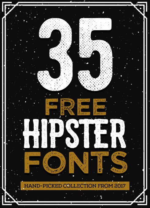 Free Hipster Fonts for Designersfridayfreebie fonts freefonts freebies hipsterfonts