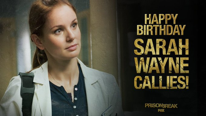 To wish your favorite doctor, Sarah Wayne Callies, a happy birthday...!!!
