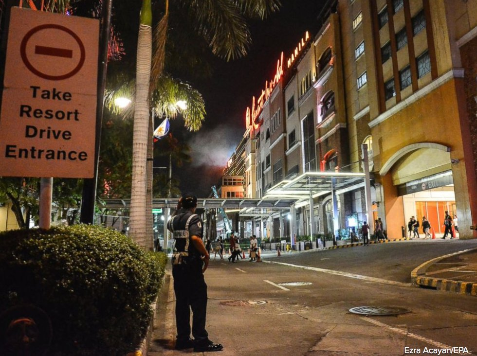No evidence of terrorism in Philippine resort shooting, police say.