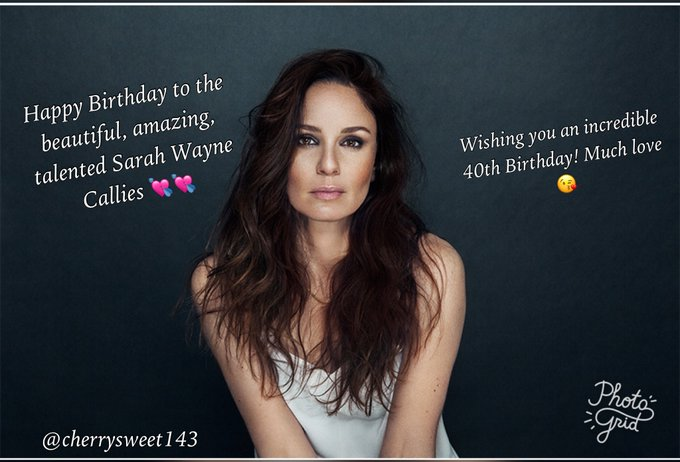 Happy Birthday to this angel, Sarah Wayne Callies!!!