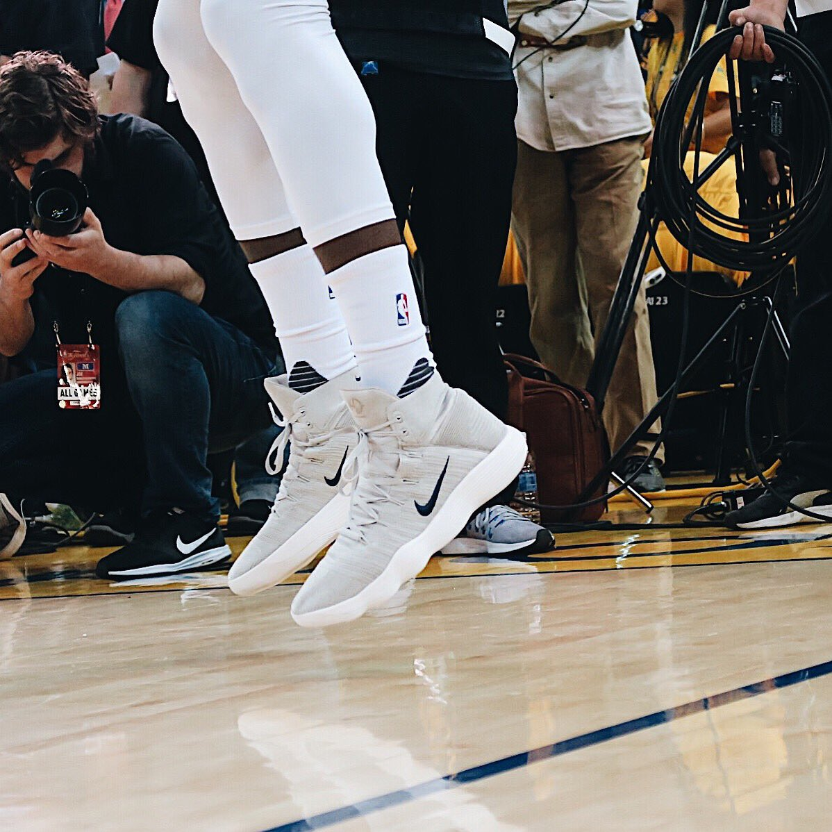 ff1f177bd8c closer look at draymond green s nike hyperdunk 2017 live at game 1 of the  📸