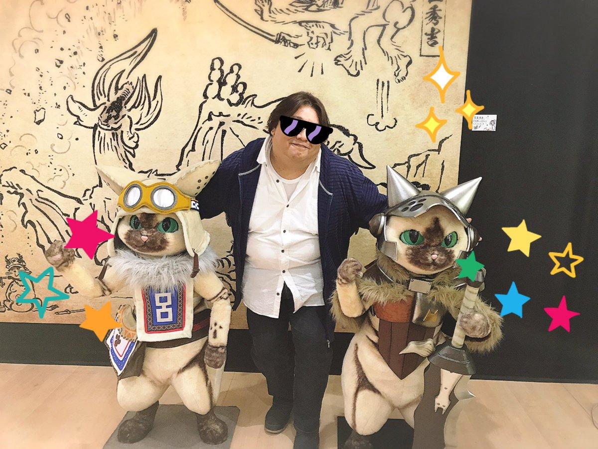 ラフォーレ原宿B1Fでモンハンと戦国鳥獣戯画のコラボショップあったー!かわいい(*´∇`*)