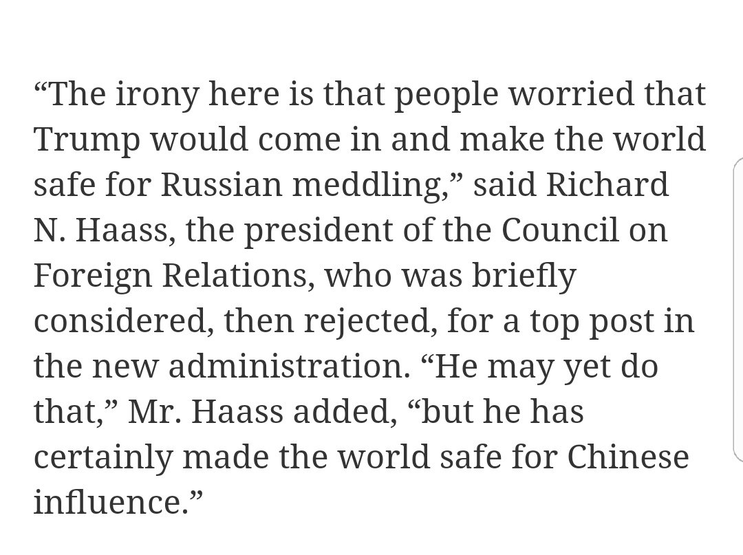 Pretty remarkable statement, considering Haass was once floated as a potential Trump Secretary of State. https://t.co/WjExg3nv1Y