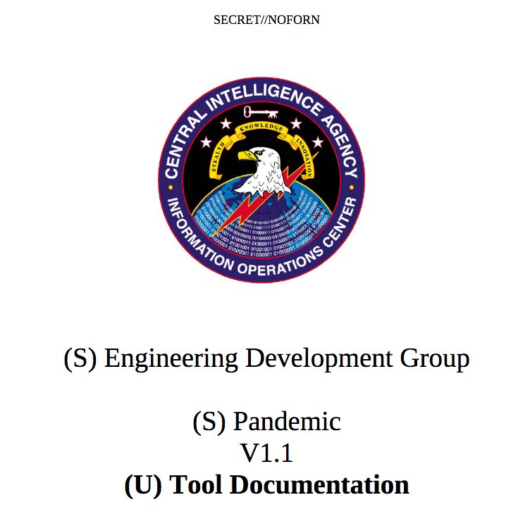 RELEASE: CIA 'Pandemic'