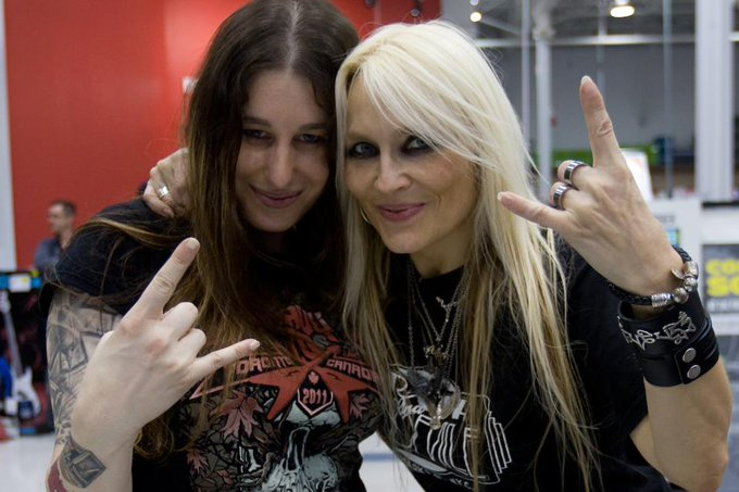 Happy Bday to my beautiful & ROCKIN\ sister in metal .. Doro Pesch !! \\m/ U rock !!