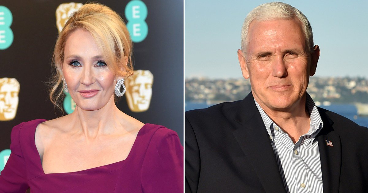 "J.K. Rowling blasts Mike Pence after VP claims climate change is an issue for the ""left"":"