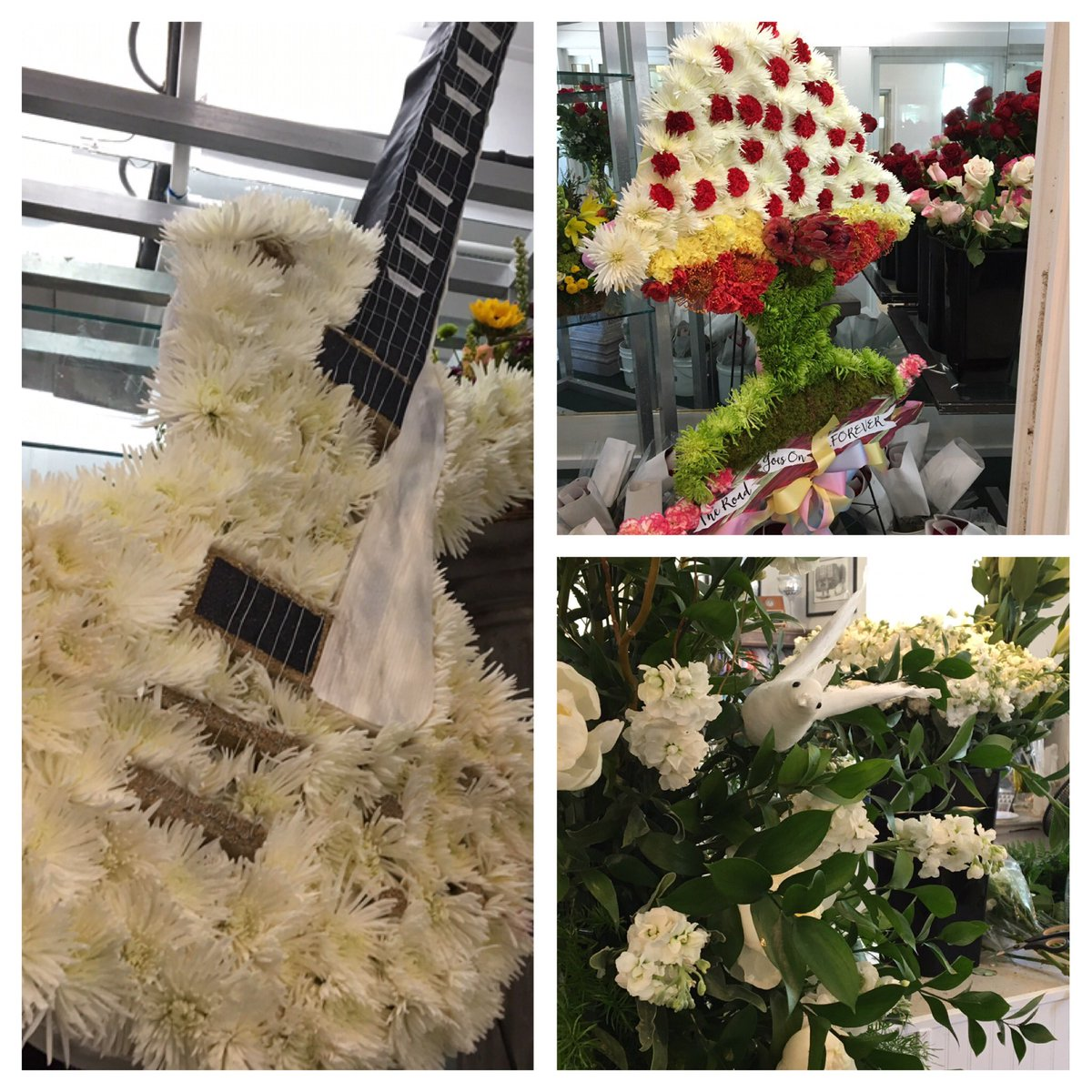 Check out these arrangements at a macon flower shop from lynyrd check out these arrangements at a macon flower shop from lynyrd skynyrd for gregg allmans funeral dhlflorist Image collections