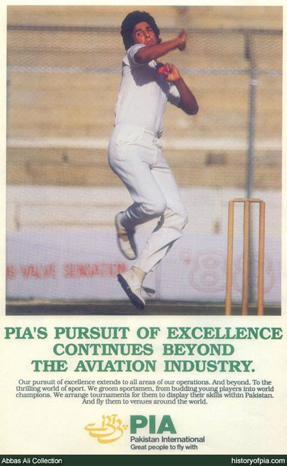 June 3 - Happy birthday to PIA & Pakistan\s lethal pace bowler and explosive batsman Wasim Akram.