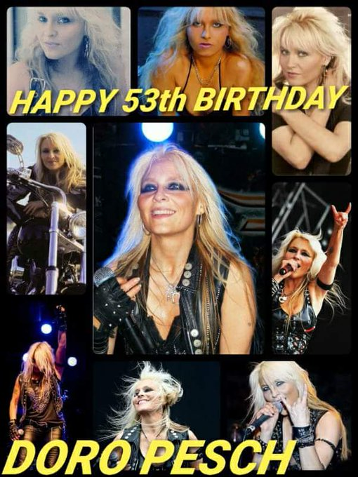 Happy 53th Birthday DORO PESCH!!!