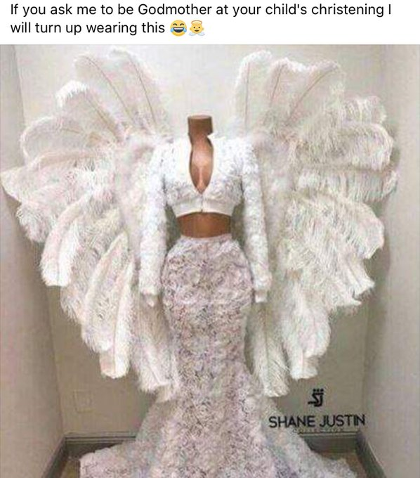 So happy that @OliviaDBuck has agreed on her christening outfit for next year 💁🏼just something casual