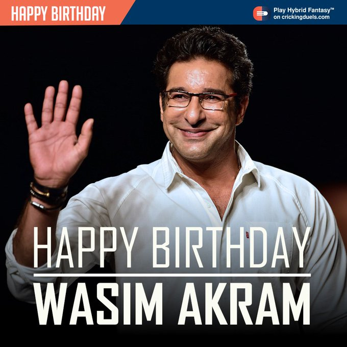 Happy Birthday, Wasim Akram. The former Pakistan cricketer turns 51 today.