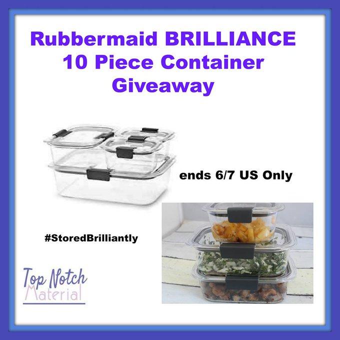 Rubbermaid BRILLIANCE 10-piece set GA-1-US-Ends 6/7