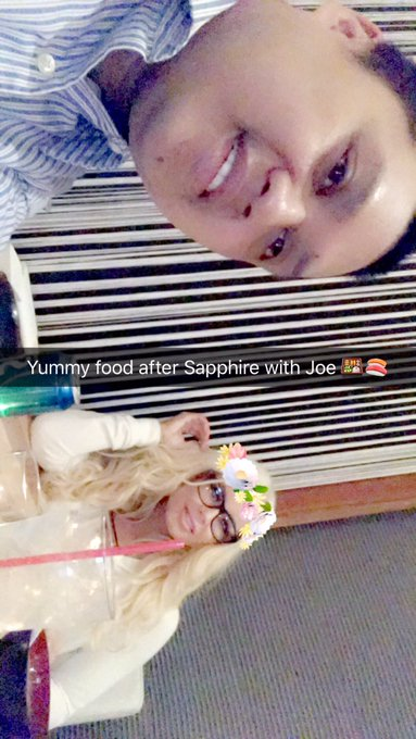 After @TheSapphireLV food so hungry with @webmasterjoe 🍣🍣🍣 yum yum in my tummy https://t.co/imwAEZWL